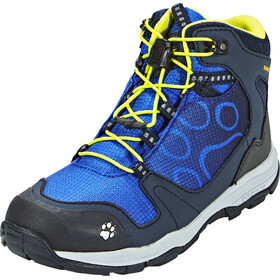 Jack Wolfskin Akka Texapore Hiking Shoes Mid Cut Boys vibrant blue